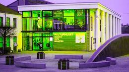 Skanderborg Bibliotek om aftenen