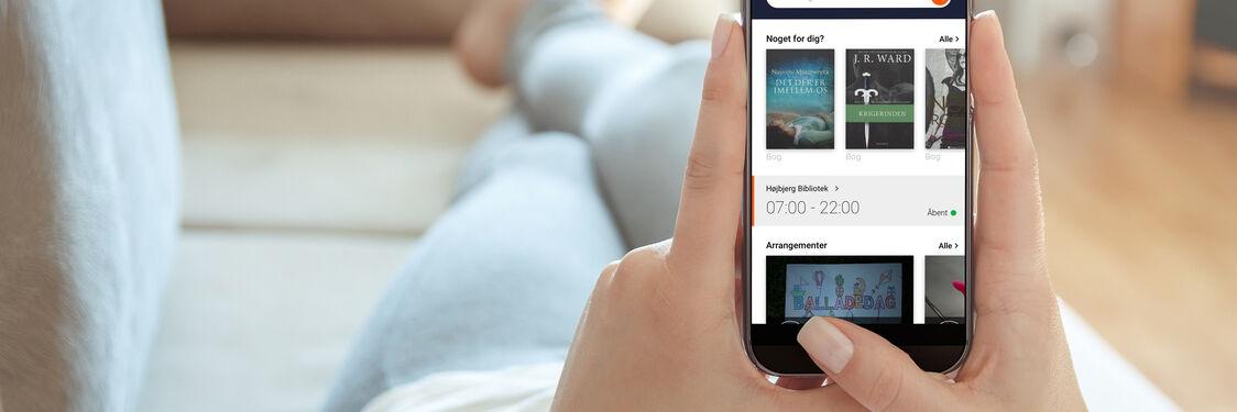 Vi er glade for at kunne præsentere vores nye app, som vil gøre det lettere at bruge biblioteket via mobil/tablet